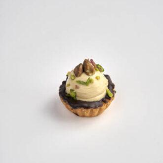 Tartelletta con mousse al pistacchio siciliano