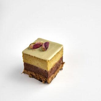 pasticcino pistacchio e cioccolato